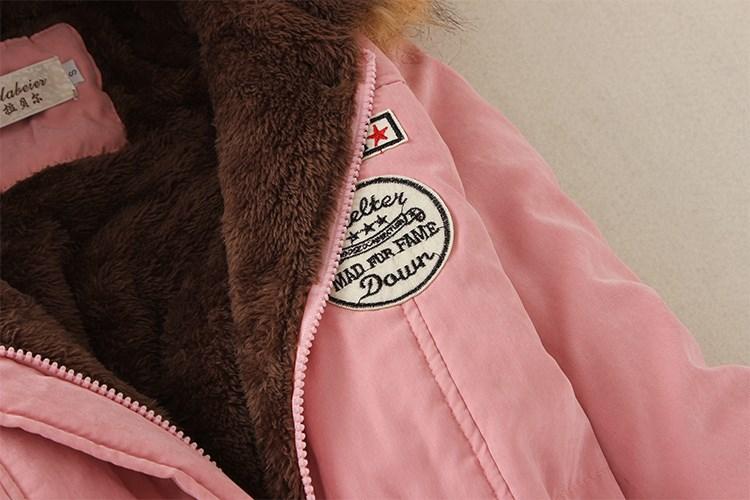 19 Winter New Women's Hooded Fur Collar Waist And Velvet Thick Warm Long Cotton Coat Jacket Coat 21