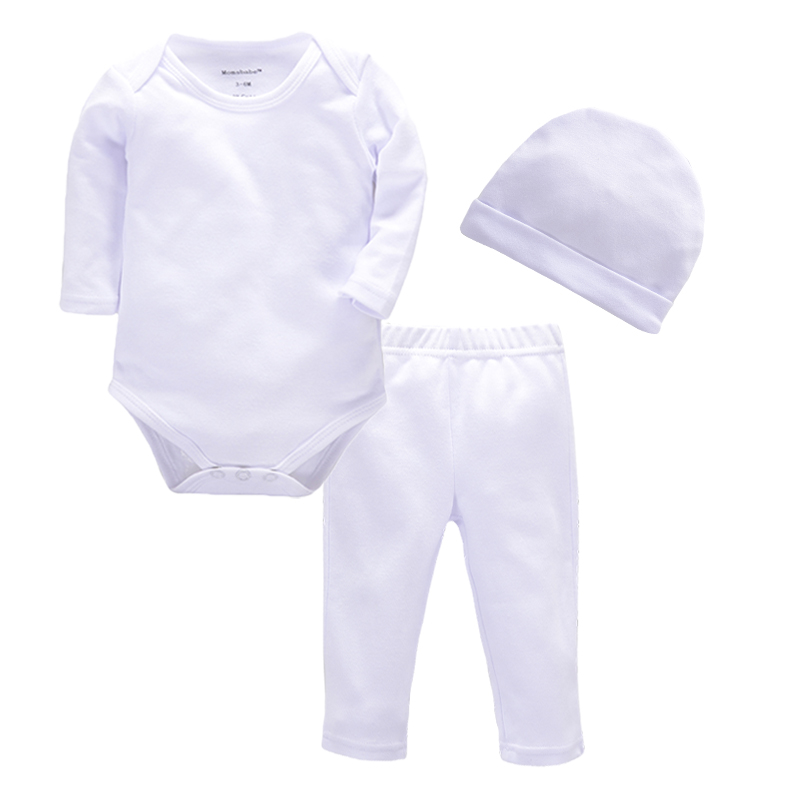2017 Baby Girl Clothes 3pcs Boy Clothing Sets White Cotton Bebe Rompers Golden Ruffle Bloomers Long Sleeve Cap Newborn Clothes newborn baby rompers baby clothing 100% cotton infant jumpsuit ropa bebe long sleeve girl boys rompers costumes baby romper