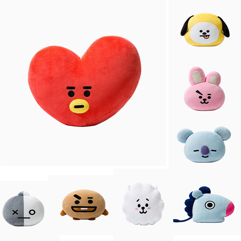 638845b6de54 New Korean Super Star BTS Kawaii Cartoon Character BT21 Soft Pillow Cushion  Dolls K Pop Bolster Bangtan Boys Fashion ARMY Fans