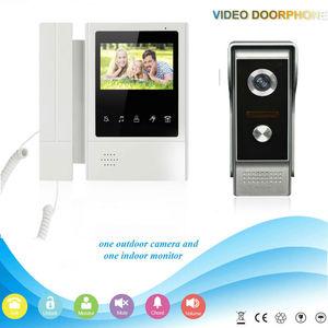 """Image 3 - YobangSecurity אבטחת בית וידאו אינטרקום 4.3 """"אינץ צג וידאו פעמון דלת טלפון אינטרקום מצלמה צג מערכת דירה"""