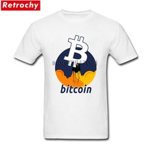 43f54dc7 Hip Hop Tees Shirt Rocket To The Moon Bitcoin Men Slim Fit Short Sleeve  Basic T Shirt Team Asian Size
