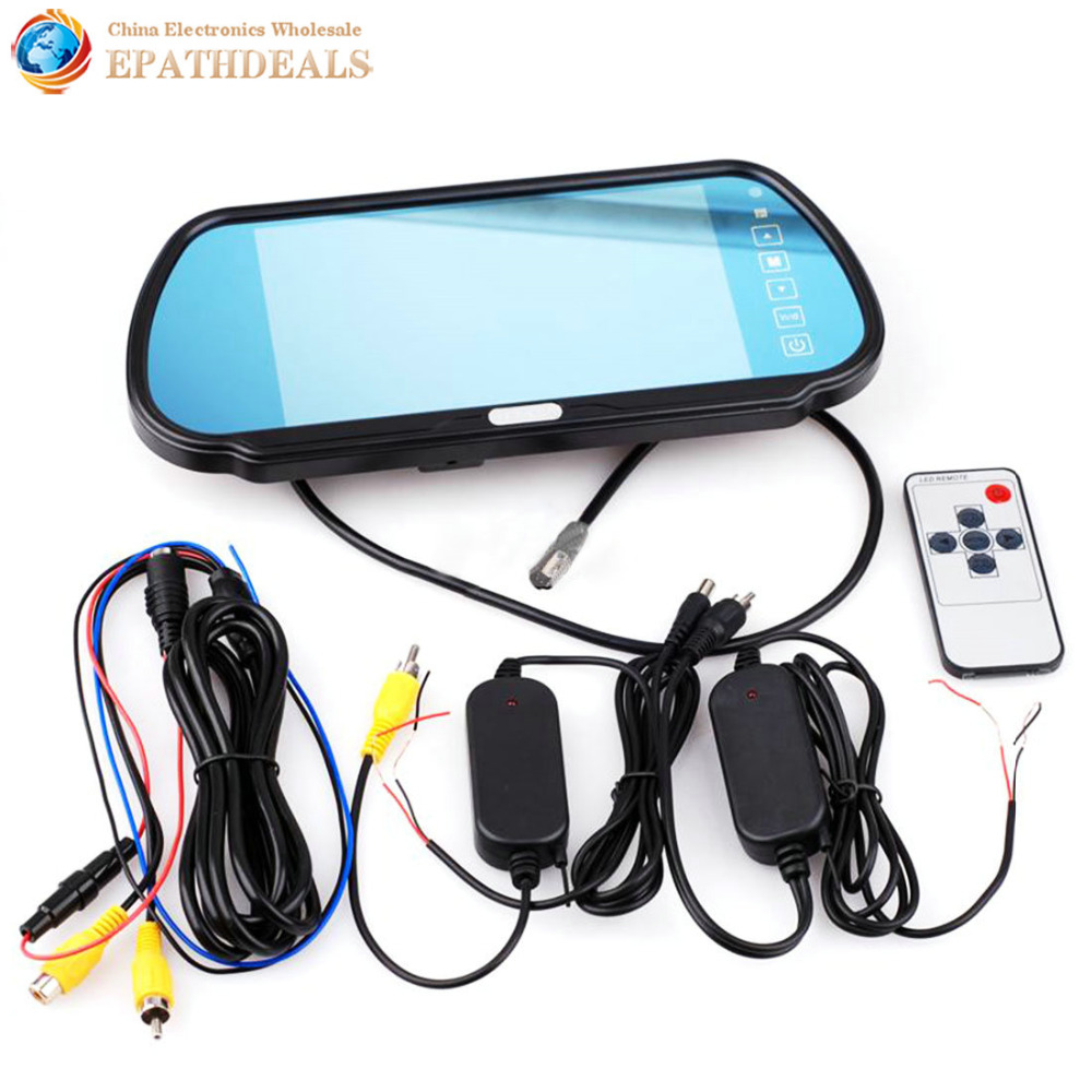 7 inch TFT LCD Auto Car Rear View Backup Mirror Monitor + IR Rearview Reverse Wireless Camera Kit Parking Assistance