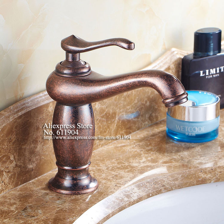 Antique Copper Aladdin Lamp Brass Bathroom Faucet Lavatory Vessel Bath  Basin Mixer Taps 22B0971 In Basin Faucets From Home Improvement On  Aliexpress.com ...