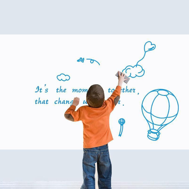 45cmx200cm vinyl whiteboard wall stickers removable board decals