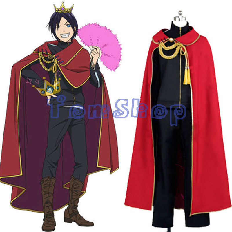 Anime Noragami Yato Cosplay Red Cape Cloak costumes Custom made Any Sizes Free Shipping