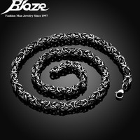 7mm Silver Plated 316L Stainless Steel Material Men Necklaces Lobster Clasps Braided Twisted Chains Necklaces For