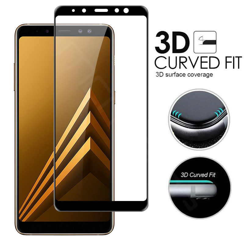 Screen Protector For Samsung Galaxy A8 Plus 2018 Tempered Glass 3D Curved Full Transparent Cover sFor Samsung A8 2018 Glass