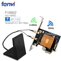 Fenvi Desktop Dual Band Wireless PCI E Adapter 802 11ac 867M WiFi BT 4 2 Intel
