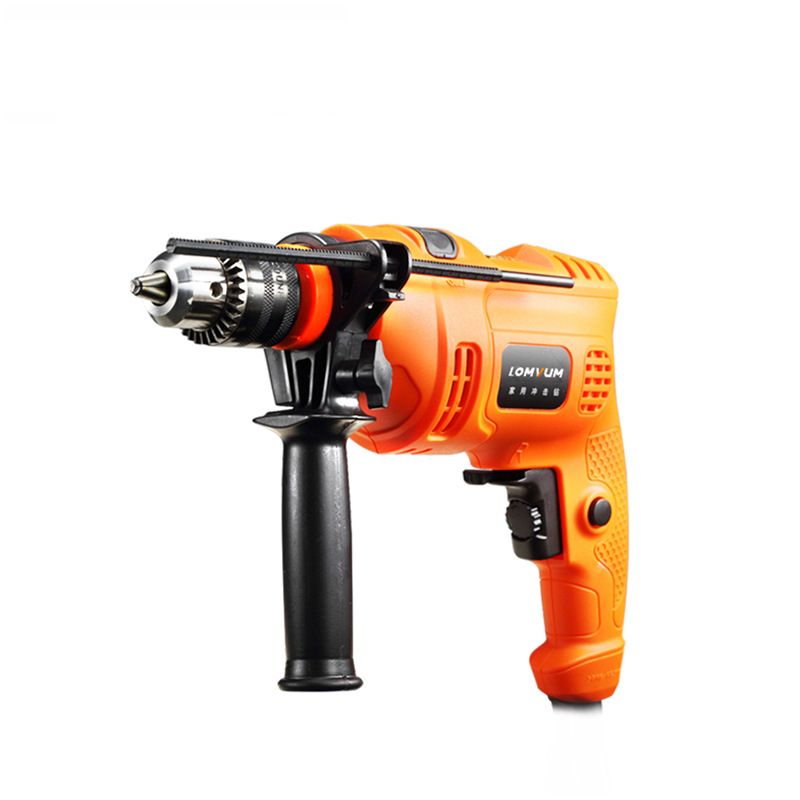 electric drill household impact drill 220v multi-function pistol drill wall screwdriver gun light hammer powder tools multi purpose impact drill for household use la414413 upholstery drilling wall percussion impact drill set power tools 220v 810w
