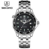 2018 Sekaro Mens High Quality Mechanical Wristwatch Watches Men Top Brand Luxury Business full steel watch Man Relogio Masculino