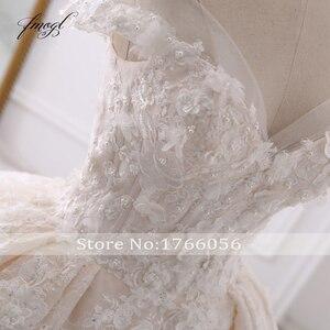 Image 5 - Fmogl seksi sevgiliye dantel balo gelinlik 2020 aplike boncuklu çiçekler şapel tren gelin kıyafeti Vestido De Noiva