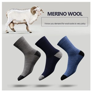 Image 1 - 3 Pairs Hight Quality Australia Merino Wool thick Socks for Men and Women Winter Casual Warm Crew Socks