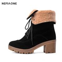 Fashion Warm Snow Boots 2016 Big Size Us 11 12 42 43 Heels Winter Black Yellow