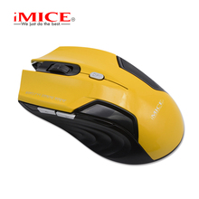 iMICE 2.4G Wirless Gaming Mouse Blue Black1600DPI Computer Red  PC Laptop Mice For Office Work With Retail wholesale