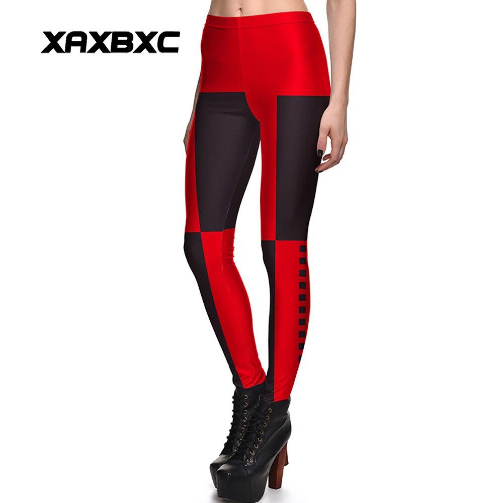 Neue 3841 Sexy Mädchen Schwarz Rot Batman Deadpool Harley Quinn Gedruckt Elastische Dünne Fitness Workout Frauen Leggings Hosen Plus Größe