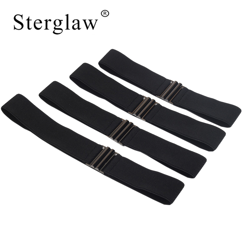 60-80X5CM New Women Leisure Black Elastic Belt Woman Wide Waist Female Cummerbunds For Autumn Clothing Accessories Belts J211
