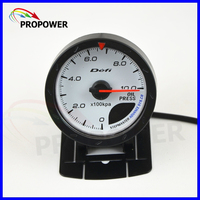 2 5 60MM DF Advance CR Gauge Meter Oil Pressure Gauge White Face Face With Oil