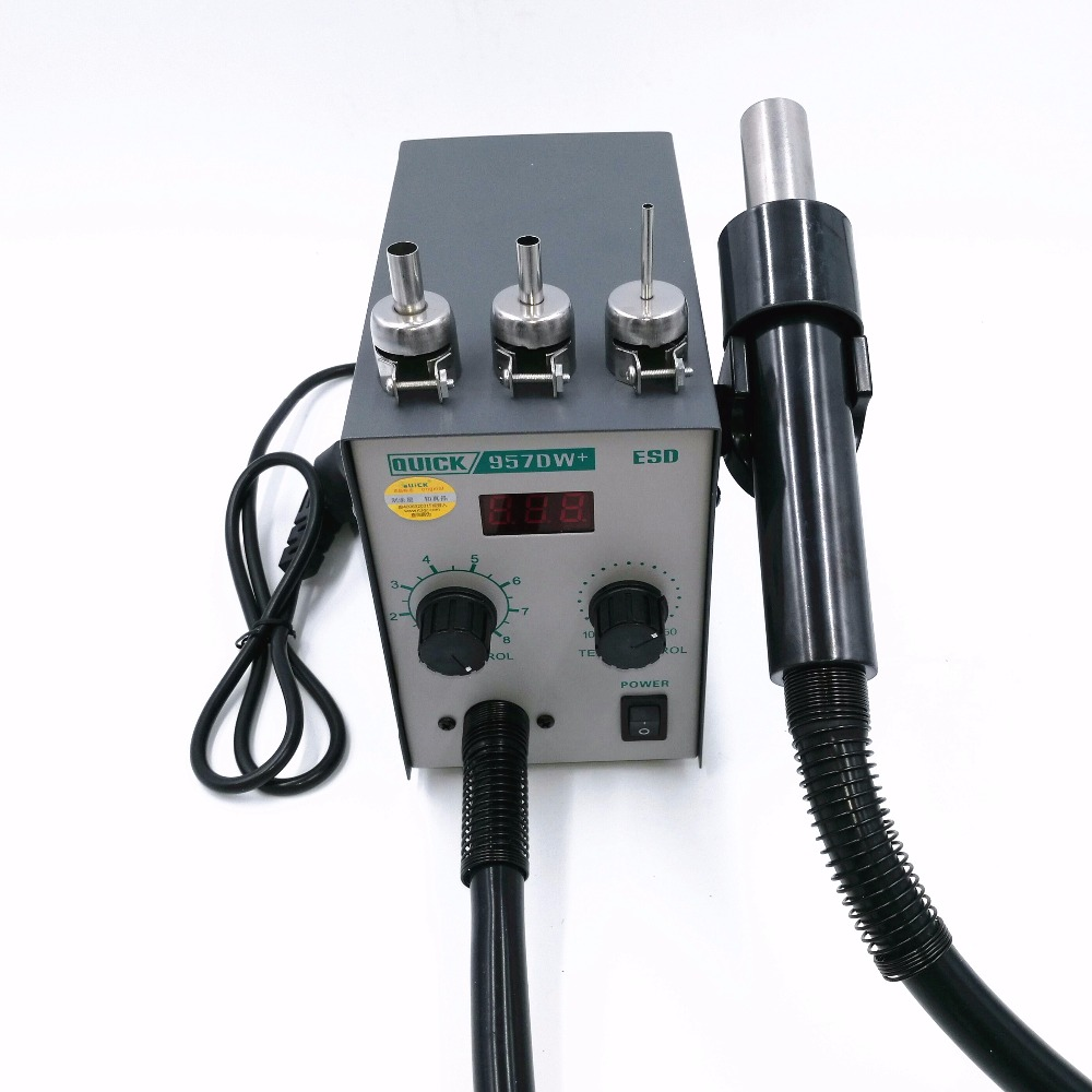 Aggiornamento 220V RAPIDO 957DW + Pistola termica regolabile ad aria - Attrezzatura per saldare - Fotografia 2