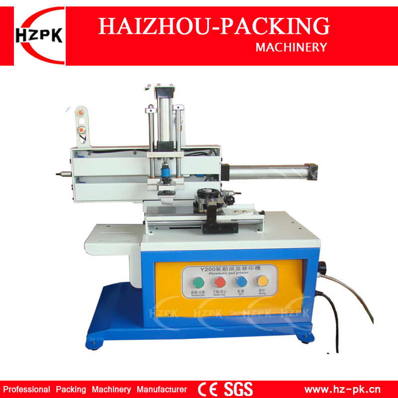 HZPK Pneumatic Pad Printer Date Printing Machine Production Date Printing Machine Ink Coding For Metal/Plastic/Glass Bottles baterady pneumatic electric pad printing machine spare part ink cup tungsten steel ring odxidxh mm