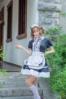 2019 HOT Sale Cosplay Maid Uniform New Fashion Role Play Maid Dress Erotic Sexy Lace Coffe Shop Waitress Uniform Dress Exotic