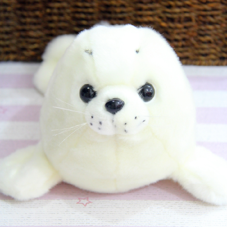 Candice guo! plush toy cute cartoon animal papa seal white sea dog sea lion stuffed doll kids girls birthday Christmas gift 1pc stuffed animal jungle lion 80cm plush toy soft doll toy w56