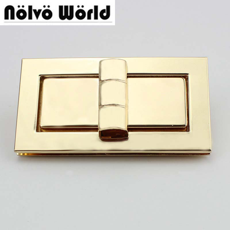 10sets/lot Big Size 83*43mm High Quality Gold Color  Metal Functional Lock For Handbags Factory DIY Hardware Wholesale Price