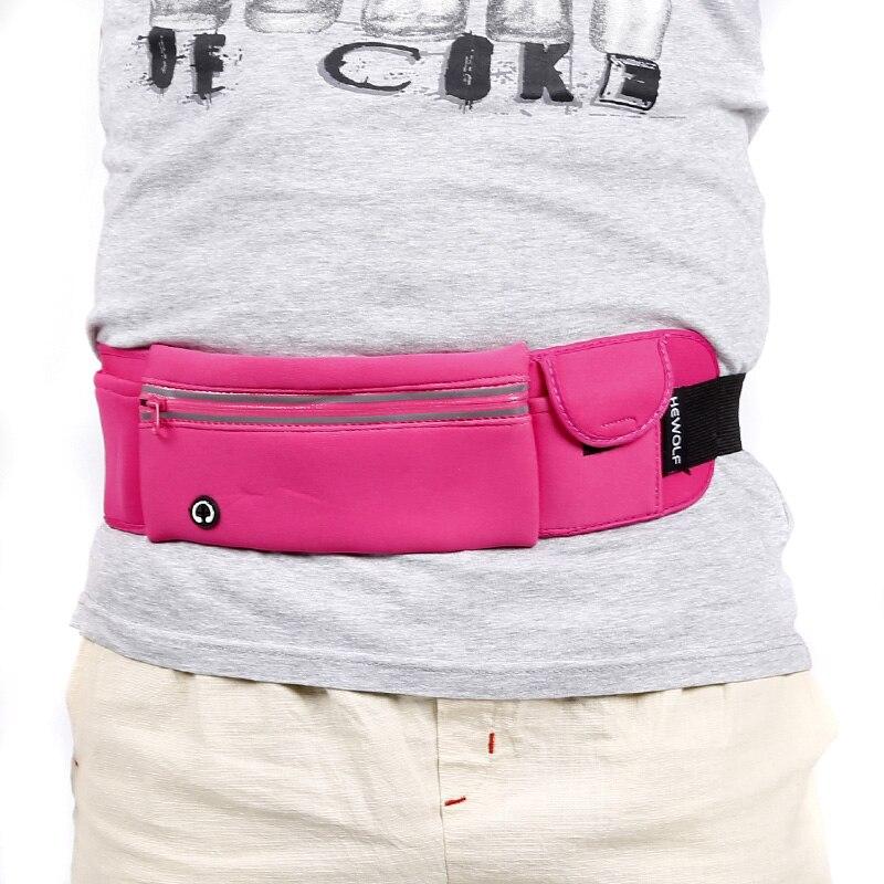 Hewolf Unisex Mini Waterproof Outdoor Mobile Phone Bag Portable Running Bag Ultralight Sports Waist Bag