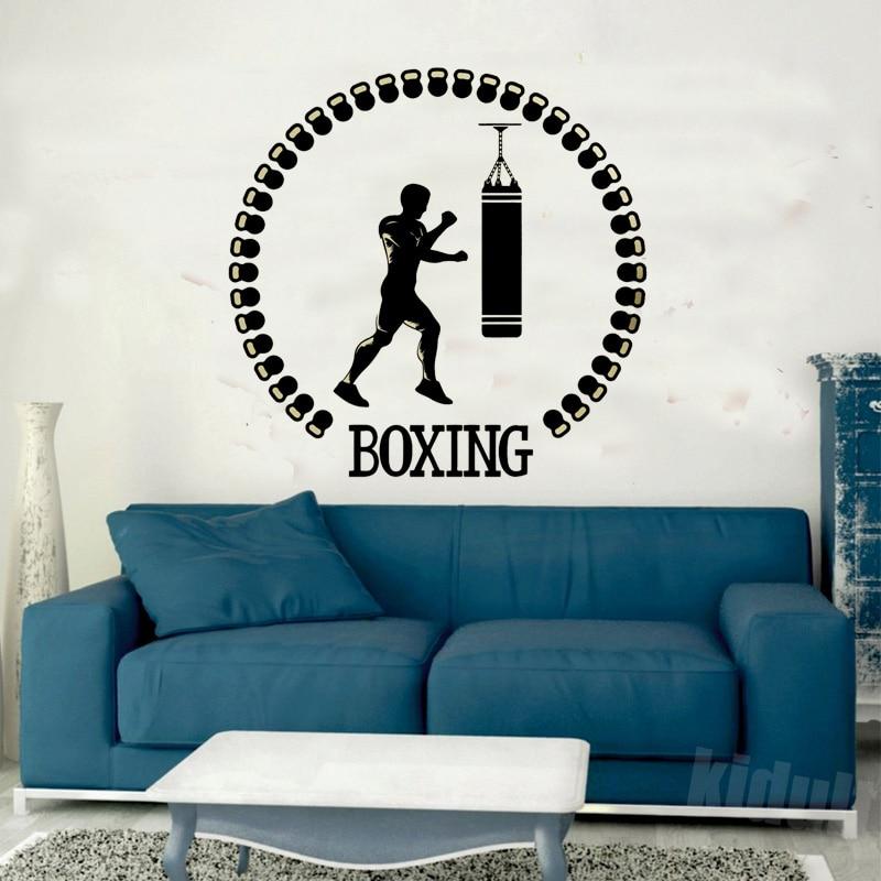Sport Boksen Gym Muurstickers Vinyl Stickers Slaapkamer Decoratie ...