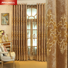 Chinese Embroidered Decoration Blackout Curtain For living Room Bedroom Window Treatment Drapes Custom Made Luxury Tulle