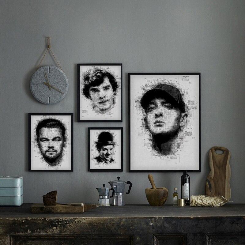 Leonardo Benedict Charlie Chaplin Male Celebrity Poster Canvas Print Home Decor