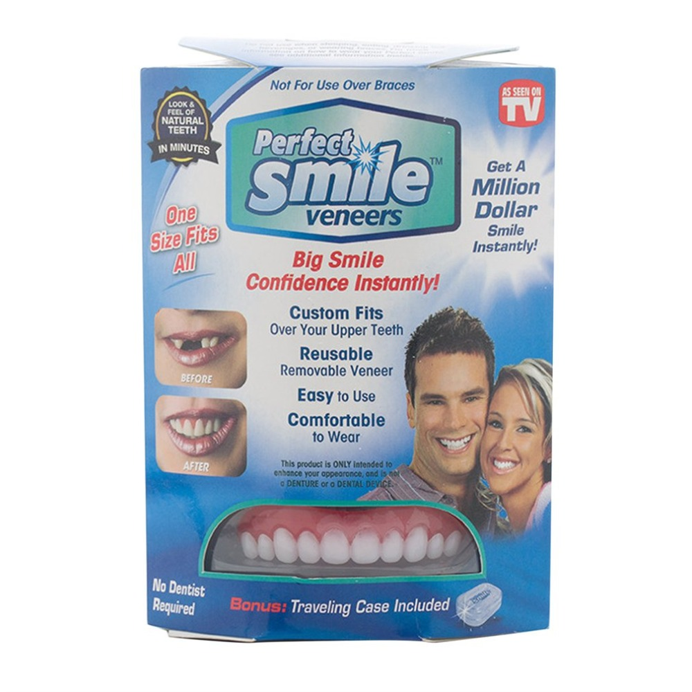 Comfort Flex Teeth Whitening Denture Paste False Teeth Upper Cosmetic Veneer Tooth Cover Perfect Instant Smile Oral Care Beauty crest brilliance white toothpastes tooth paste oral hygiene teeth whitening gum care dissolving polishing complex 2 pcs pack
