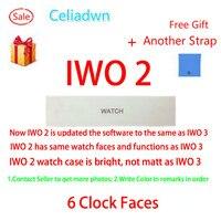 Смарт-часы IWO 1:1 обновления 2nd поколения сердечного ритма IWO 2 SmartWatch Bluetooth MP3-плеер часы для iOS и Android VS IWO 3