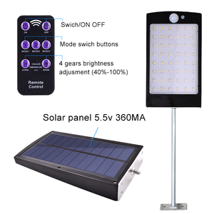 Image 4 - Solar Lights Outdoor 48 LED Wall Solar Motion Sensor Light with Remote Controller Wireless Waterproof Security Lamp for Wall