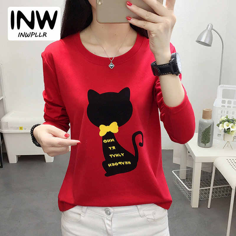 363dddd1524 Detail Feedback Questions about Long sleeved Red Embroidery T shirt ...