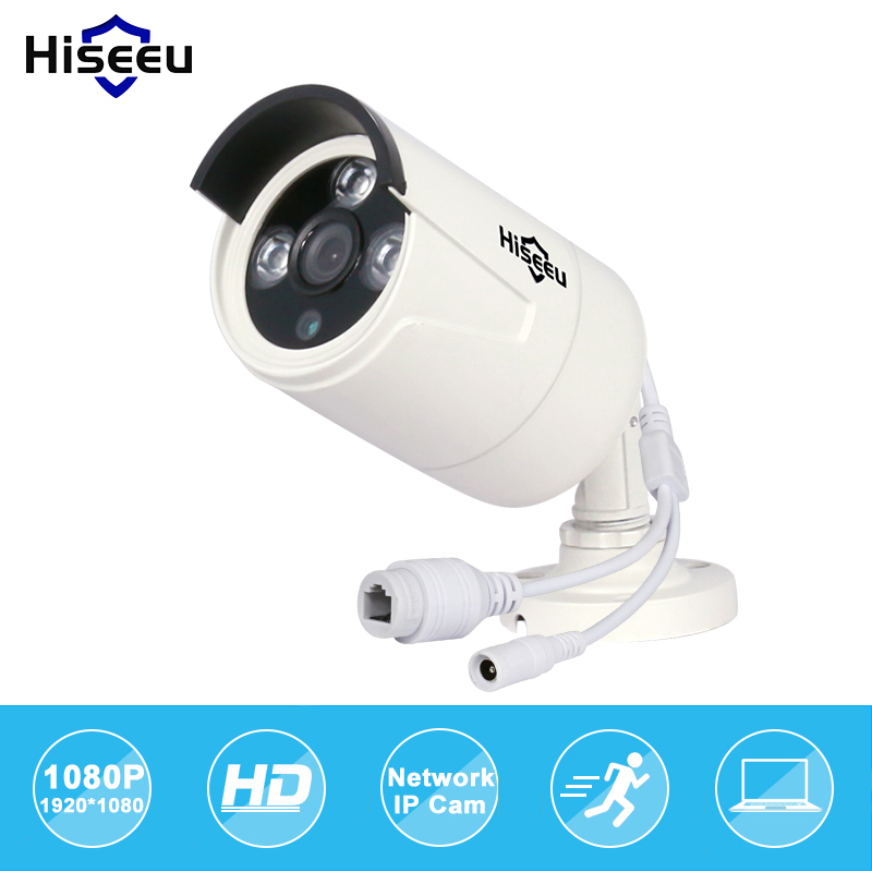 Hiseeu Hd POE 1080p 2.0mp Ip Wired Camera Waterproof IR Outdoor CUT Night Vision Baby Monitor Camaras De Seguridad Dropshipping