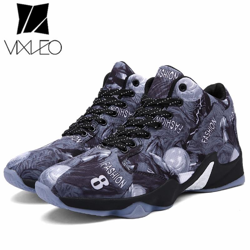2017 Hot Sale Basket Shoes for Men Boys High Top Training Boots Lace Up Basket Shoes