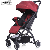 Small Sun Baby Cart Can Sit, Lie Down, Fold Children Umbrella Car, Super Light Mini Pocket Carriage, Carriage.