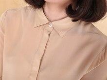 new arrival  crepe-de-chine silk long-sleeve woman shirt 100%  female blouses comfort  classy  fashion shirt free shipping-b02