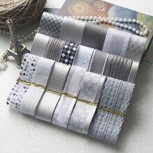 NEW STYLE! DIY Ribbon Set---Gray & Silver Color Mix Ribbon Set ( total 21 yards)
