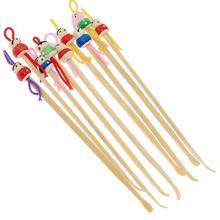 Cartoon Design Wooden Ear Spoon Earpick Curette Tool Random Color