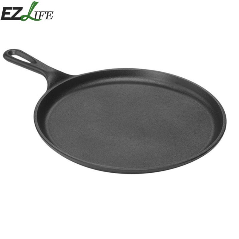 1 Pcs Oval Pizza Bakeware Saucepan Cast Iron Bakeware Frying Pan Barbecue Tools Eggs Tools