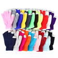 Winter Warm Screen Hand Wrist Gloves Solid Knitted Mittens for Women