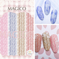 1 Folha de Adesivo Etiqueta Do Prego 3D Camisola Colorida Linha de Seta Projeto Manicure Decalque 10.3*8 cm Etiqueta Da Arte Do Prego