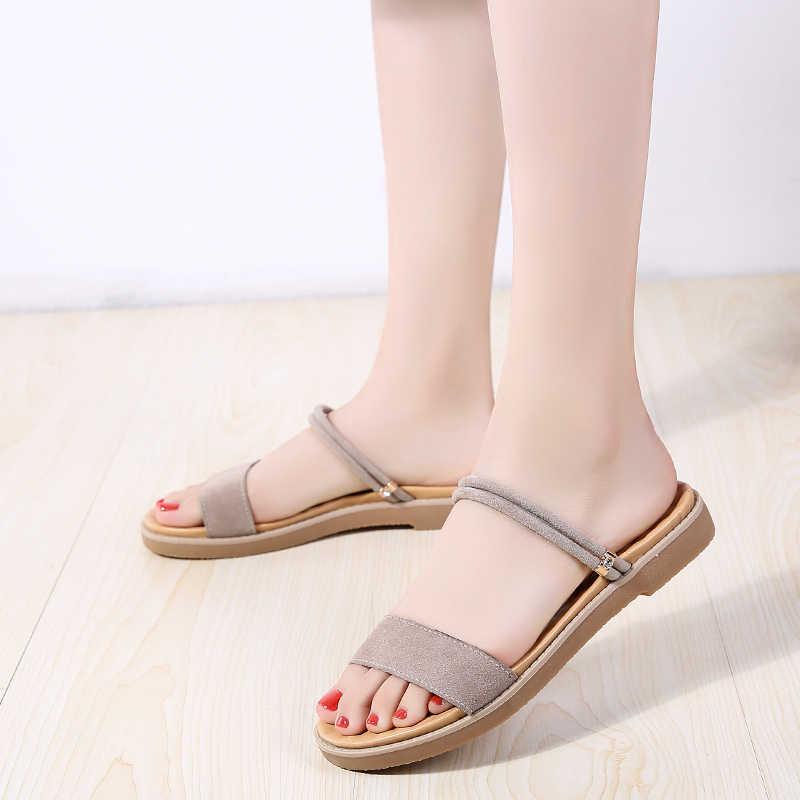 PLARDIN 2019 Phụ nữ mùa hè Nền Tảng đế bằng Giày nữ nền tảng sandalias Giày nữ trắng nêm Giày xăng đan flipflops