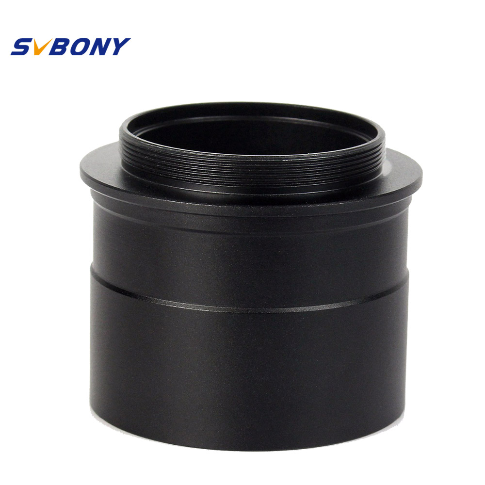 SVBONY 2 to T2 Mount Adapter Telescope Eyepiece w/Thread to Accept 2 Filter Monocular Binoculars Telescope Camera W2760 svbony 2 inch telescope eyepiece extension tube camera mount adapter 2 to t adapter for astronomy photography w2155
