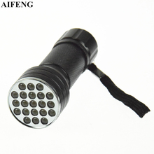AIFENG 21Leds Flashlights Ultra Violet UV Flashlight AAA Battery Powered Led Flashlight Black Light For Scorpions Cash Detection(China)