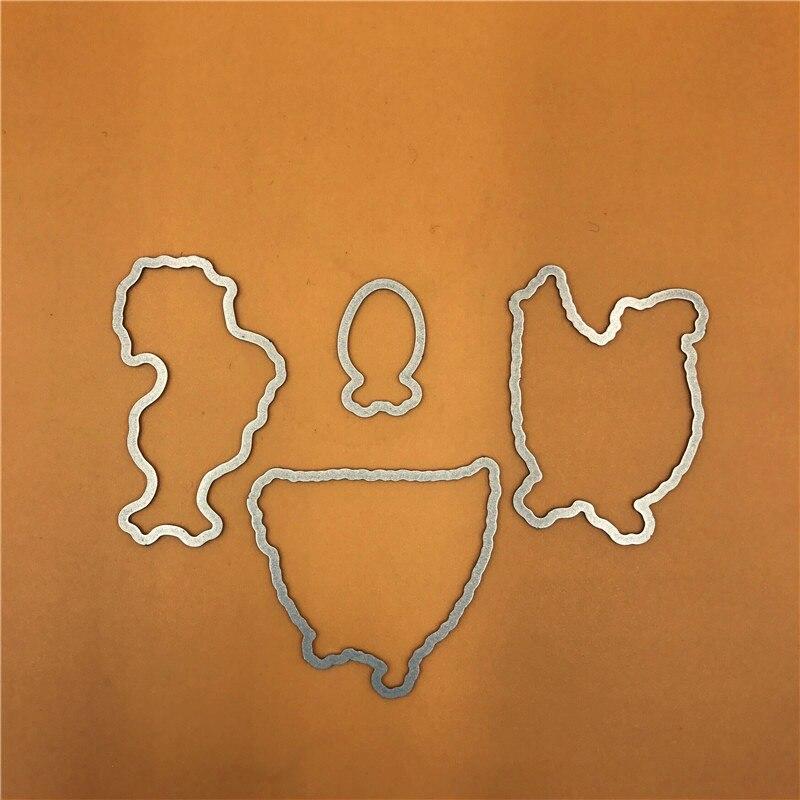 chicken Metal Cutting Dies Stencils for DIY Scrapbook/photo Decorative Embossing DIY Paper Cards Making Proje A751 bismuth crystals bismuth bi metal crystal rainbow bright metal mineral specimen original nature art artwork decorative article
