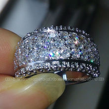 Size 6 7 8 9 10 Luxury Hot sale jewelry Full white AAA CZ 10kt white