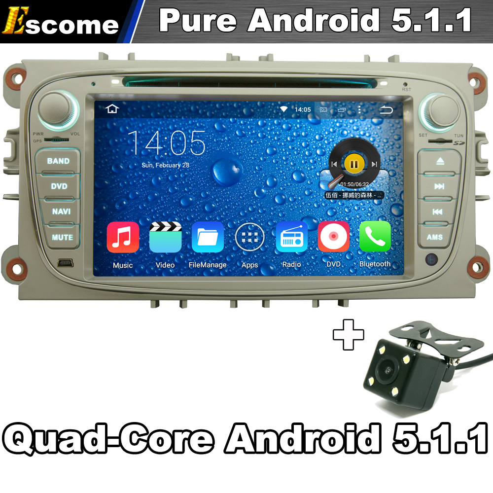 Android 5.1.1 Car DVD Player For Ford Mondeo Focus S MAX C MAX Galaxy Kuga 2007 2008 2009 2010 2011 with Radio GPS Camera