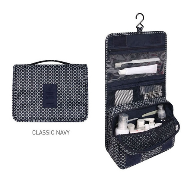 Hanging Travel Cosmetic Bag Women Zipper Make Up Bag Polyester High Capacity Makeup Case handbag